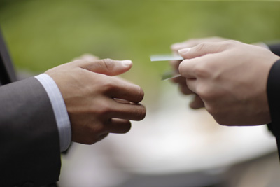 Businesspeople Exchanging Business Cards FLT0004267