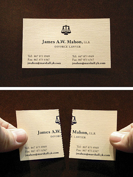 separation lawyer business card