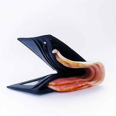 Slices of Bacon Inside Wallet BRD0026058