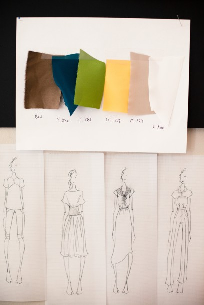 Fashion designs and fabric swatches IMS0199563