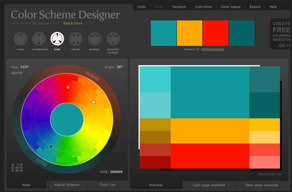 Color Scheme Designer Tool Media Bakery Design Blog
