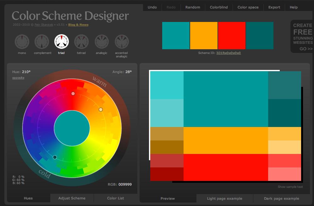 Color Scheme Designer Tool Color Combinations For Graphic Designers