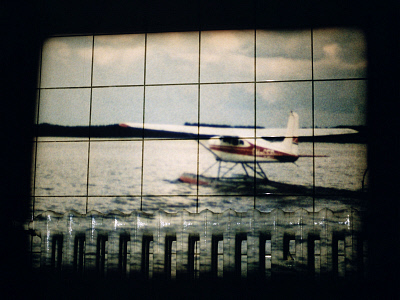 Seaplane (Super 8 Film Projection). ©Media Bakery #FLT0049047