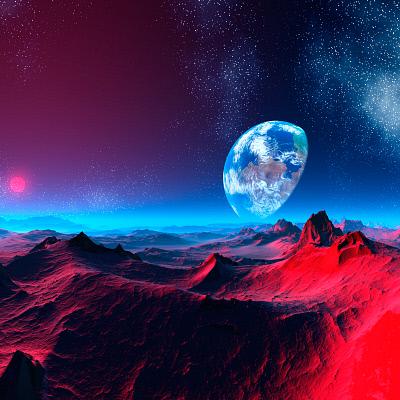 Earth-like alien planet, artwork. © Media Bakery/MEHAU KULYK #SPY0018524