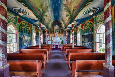 HDR photo of St.Benedict's R.C. Painted Church. ©MediaBakery #PCH0072186