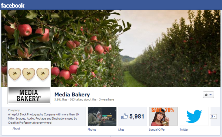 Media Bakery Facebook Profile