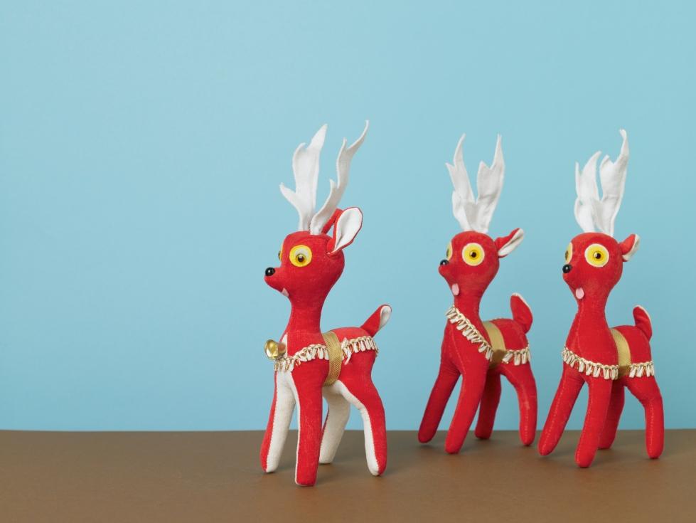 Media Bakery ID: FAN0028420 Herd of red reindeer