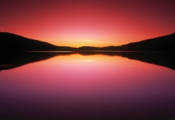 Media Bakery ID: DSP0103645 Reesor Lake At Sunset, Cypress Hills Interprovincial Park, Alberta, Canada