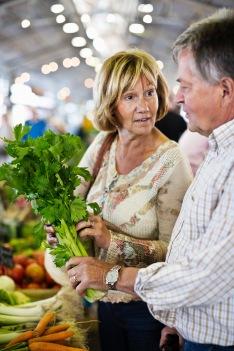 Media Bakery ID: MSK0004660Couple holding parsley at market