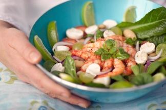 Media Bakery ID: MSK0009519 A bowl of prawn sallads