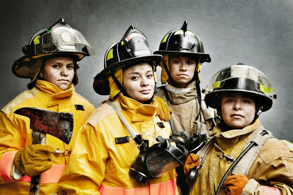 MediaBakery Image ID: BLD0111362 Woman Fire Fighters