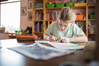 Media Bakery ID: FSI0040224 Girl doing her homework