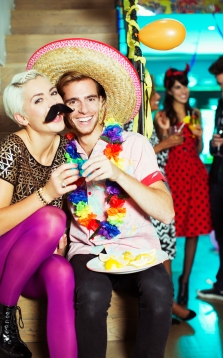 Media Bakery ID: CAA0013327 Couple wearing costumes at party