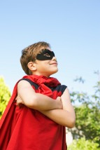 Media Bakery ID: RAD0022044 Portrait of Boy Wearing Super Hero Costume