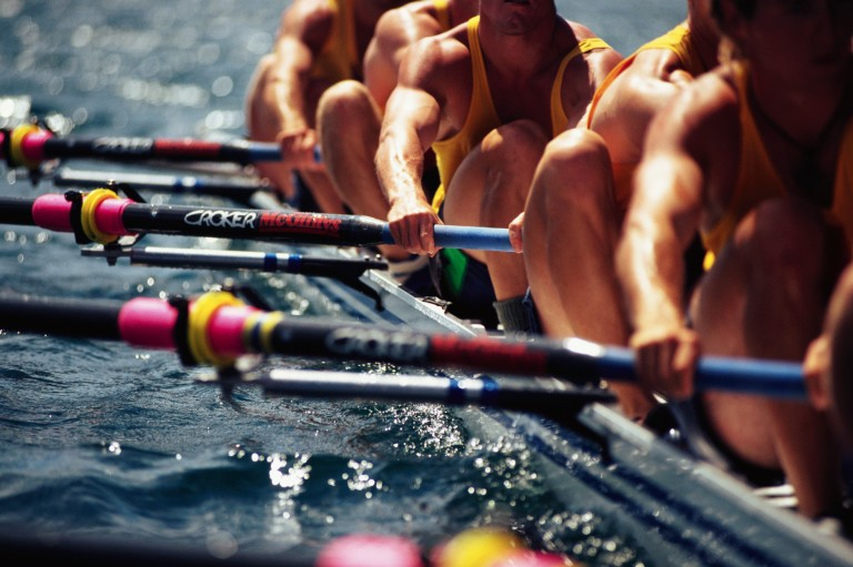 Rowing Team Working in Unison