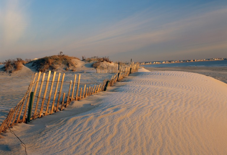 The beautiful scenic landscape of New Hampshire ´s shoreline which is part of the New England USA seacoast