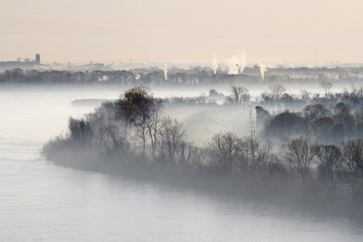 Mist Shrouded River