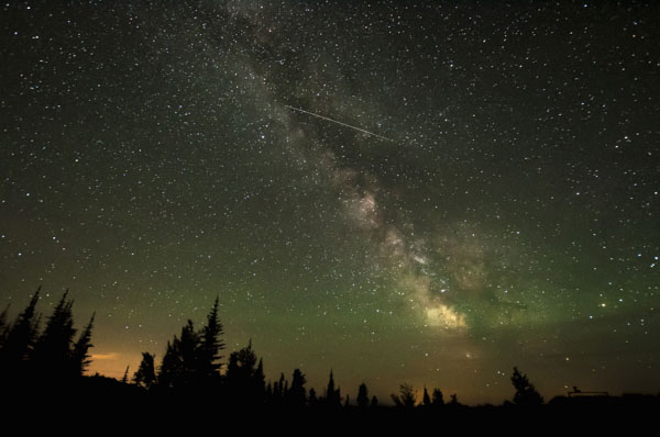 Milky way and shooting star Osoyoos British Columbia Canada